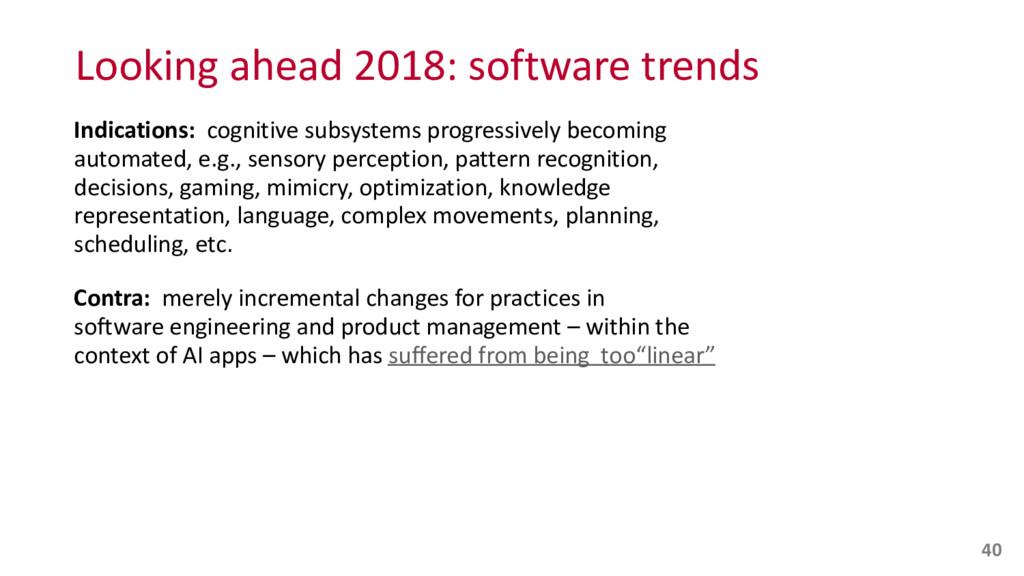Looking ahead 2018: software trends...