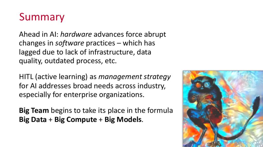 Summary Ahead in AI: hardware advan...