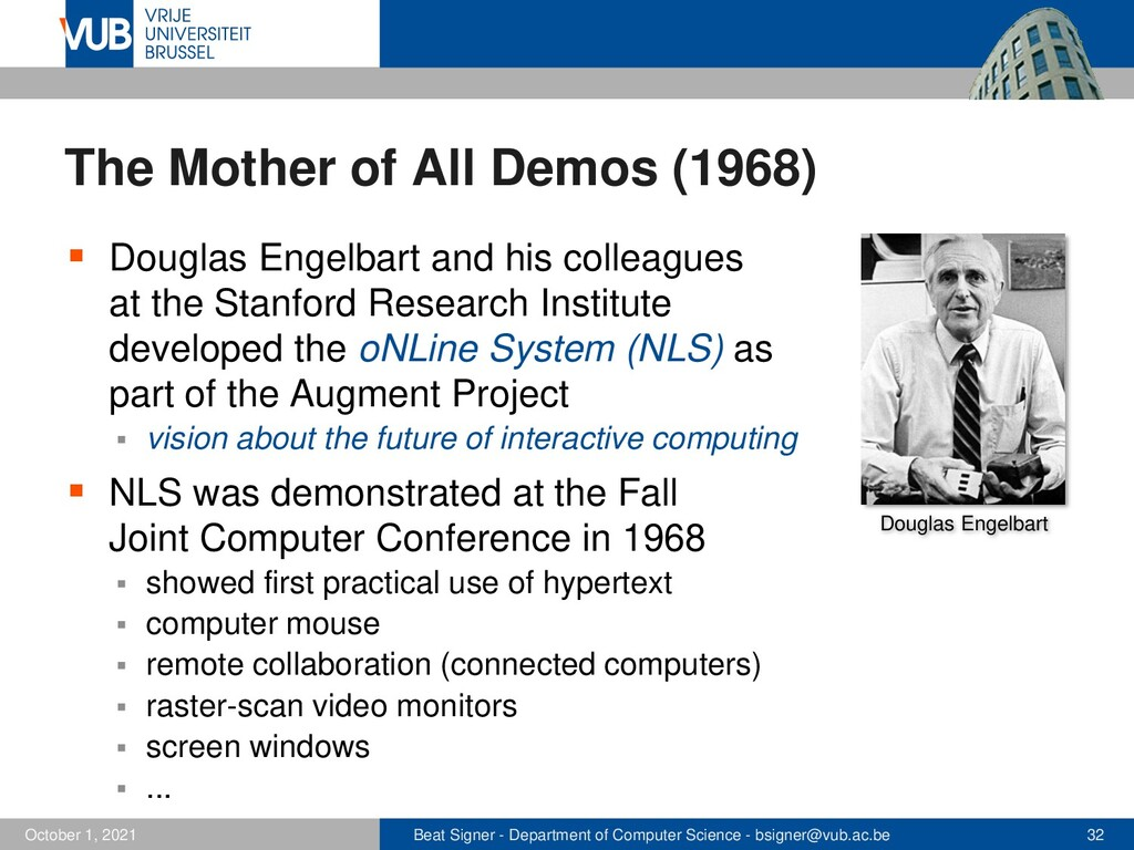 Beat Signer - Department of Computer Science - ...
