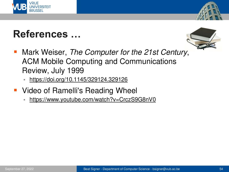 2 December 2005 Next Lecture Web Architectures