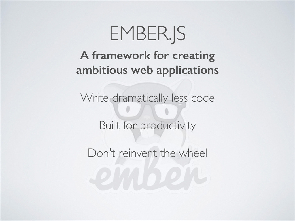 A framework for creating