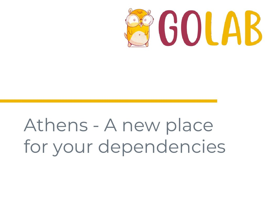 Athens - A new place for your dependencies