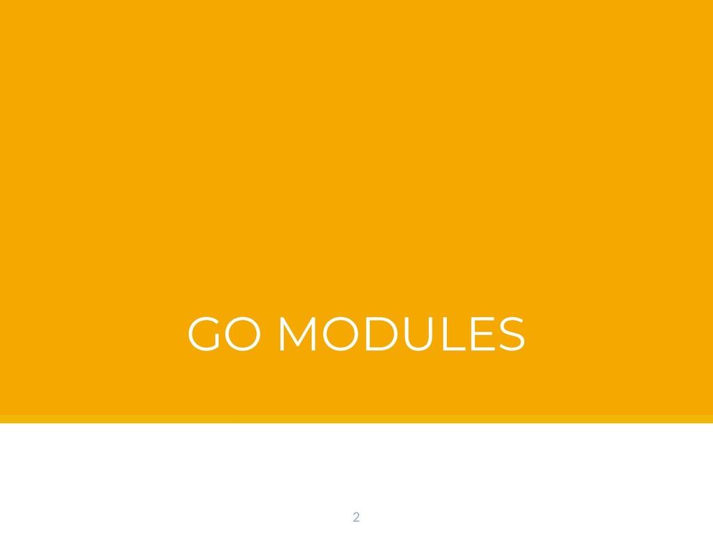 GO MODULES 2
