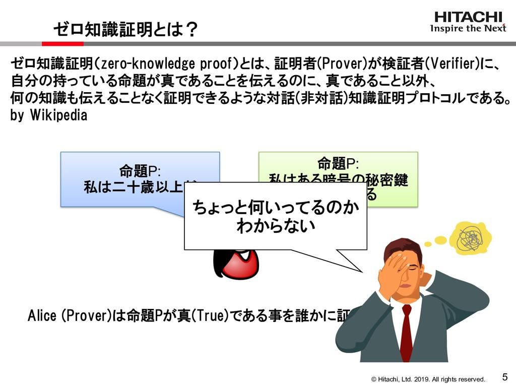 © Hitachi, Ltd. 2019. All rights reserved. 5 ゼロ...