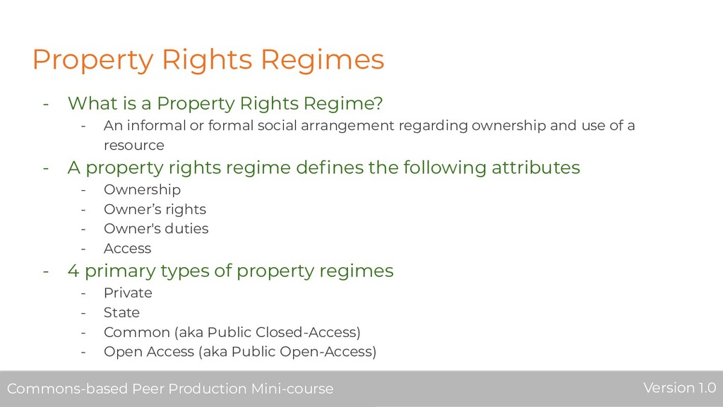 Property Rights Regimes - What is a Property Ri...