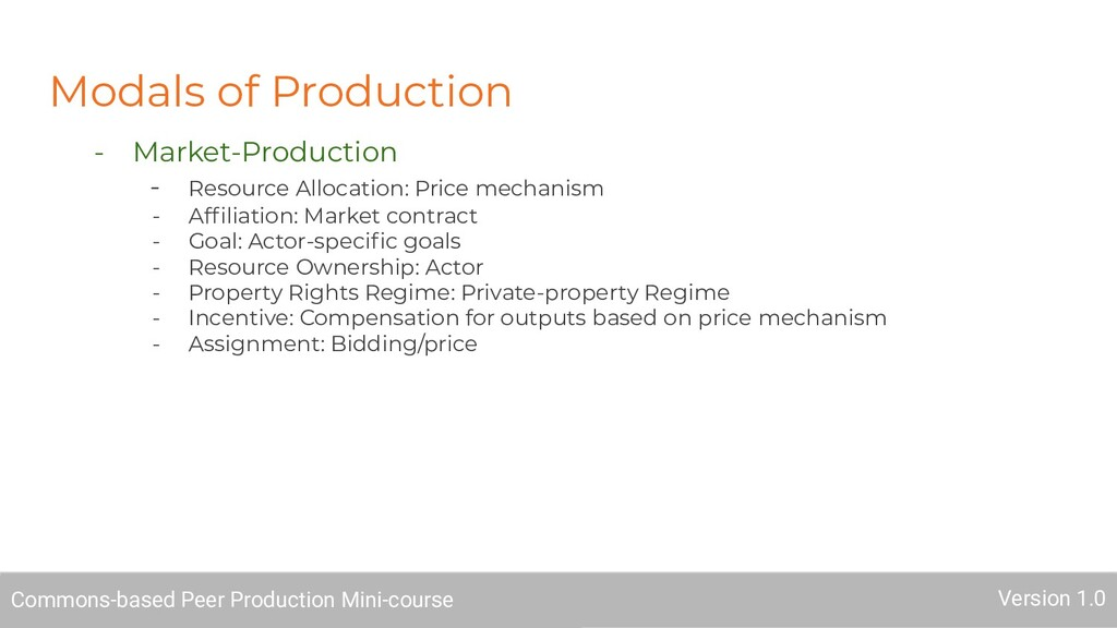 Modals of Production - Market-Production - Reso...