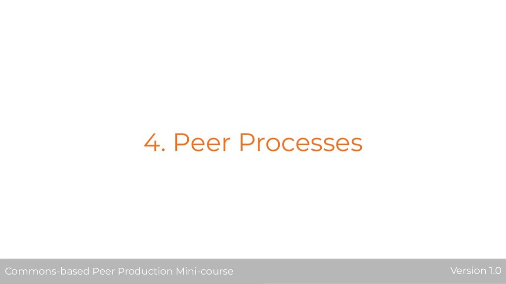 4. Peer Processes Commons-based Peer Production...