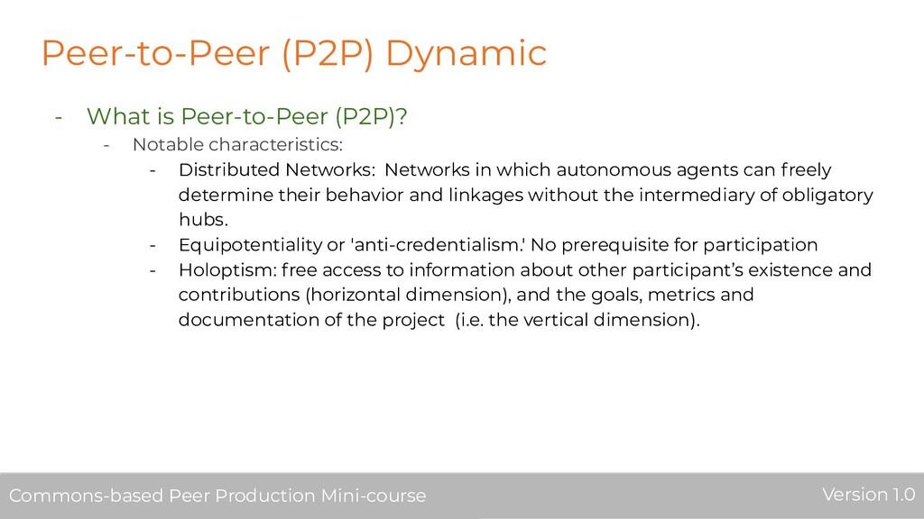 Peer-to-Peer (P2P) Dynamic - What is Peer-to-Pe...
