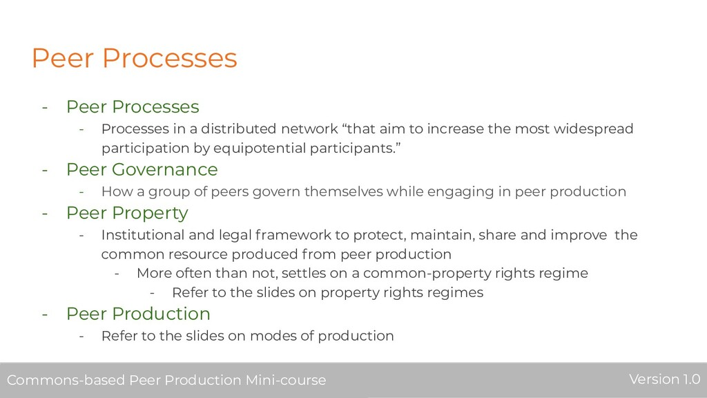 Peer Processes - Peer Processes - Processes in ...