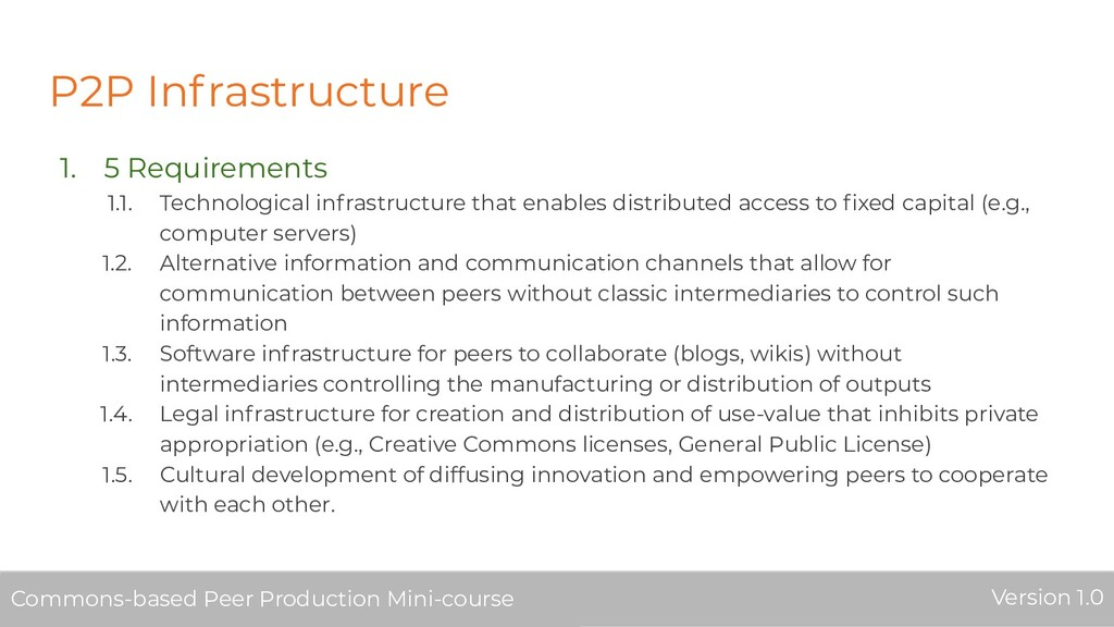 P2P Infrastructure 1. 5 Requirements 1.1. Techn...