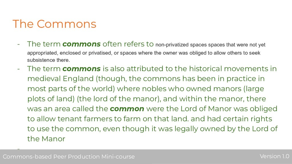 The Commons - The term commons often refers to ...