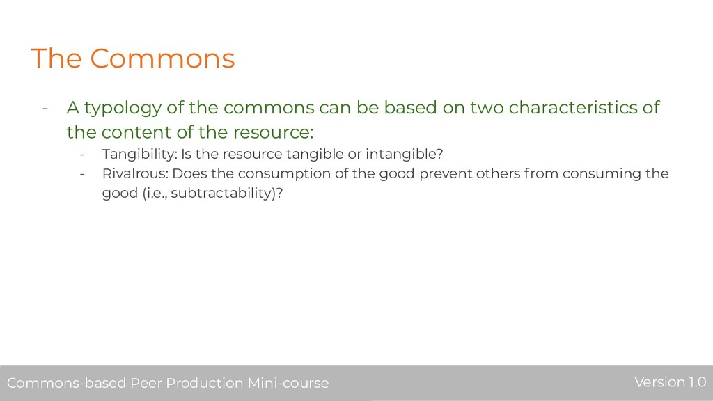 The Commons - A typology of the commons can be ...