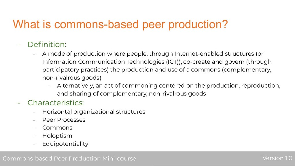What is commons-based peer production? - Definit...