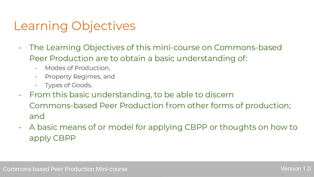 Learning Objectives - The Learning Objectives o...