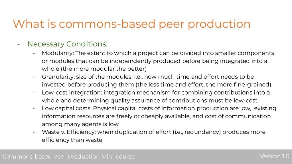 What is commons-based peer production - Necessa...
