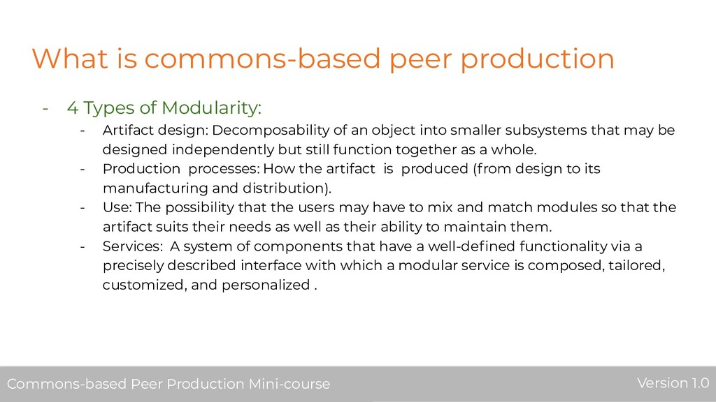 What is commons-based peer production - 4 Types...