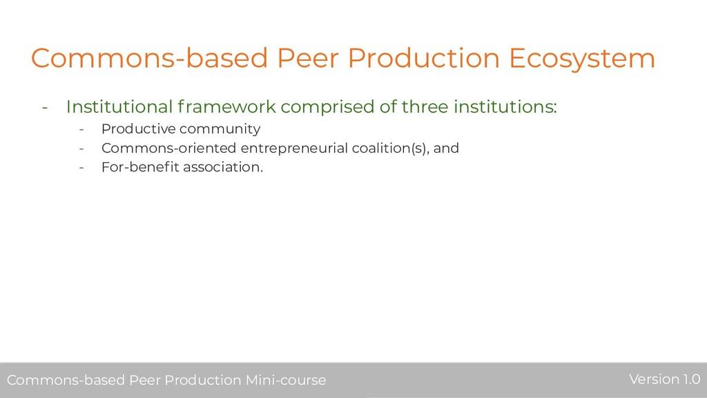 Commons-based Peer Production Ecosystem - Insti...