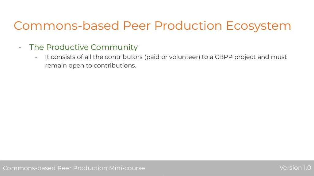 Commons-based Peer Production Ecosystem - The P...