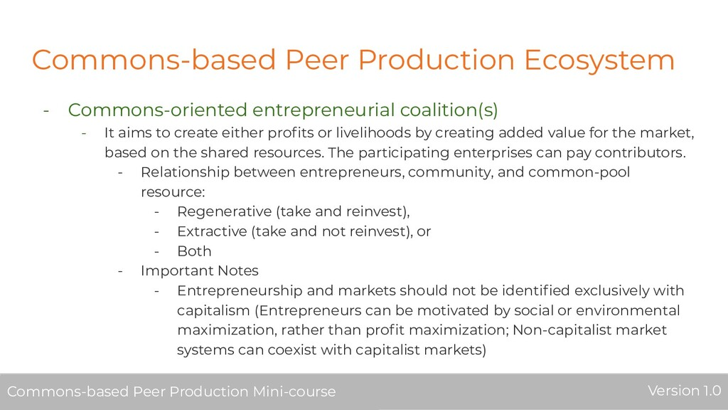 Commons-based Peer Production Ecosystem - Commo...