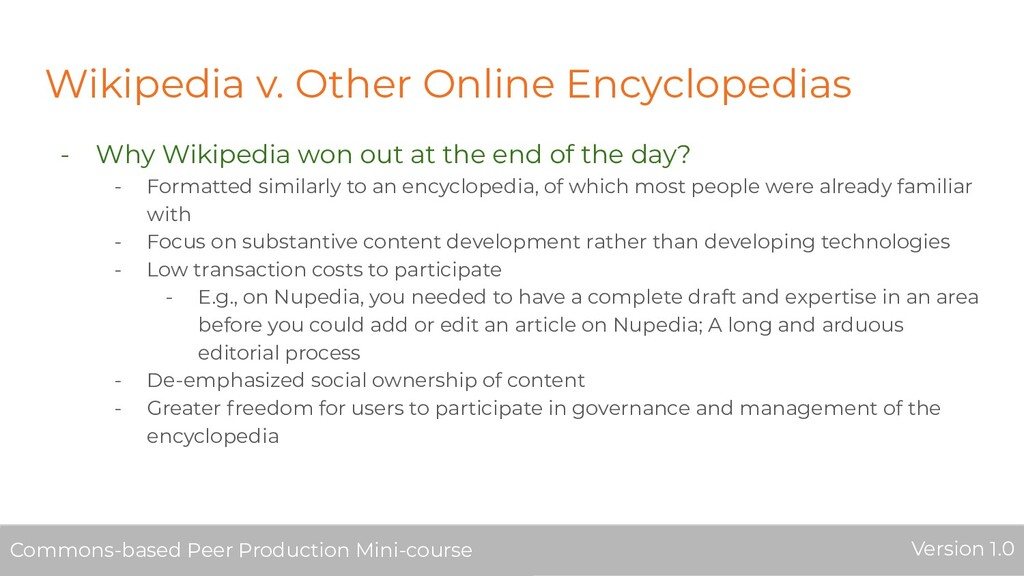 Wikipedia v. Other Online Encyclopedias - Why W...