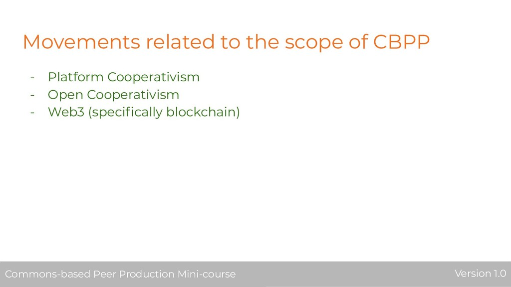 Movements related to the scope of CBPP - Platfo...