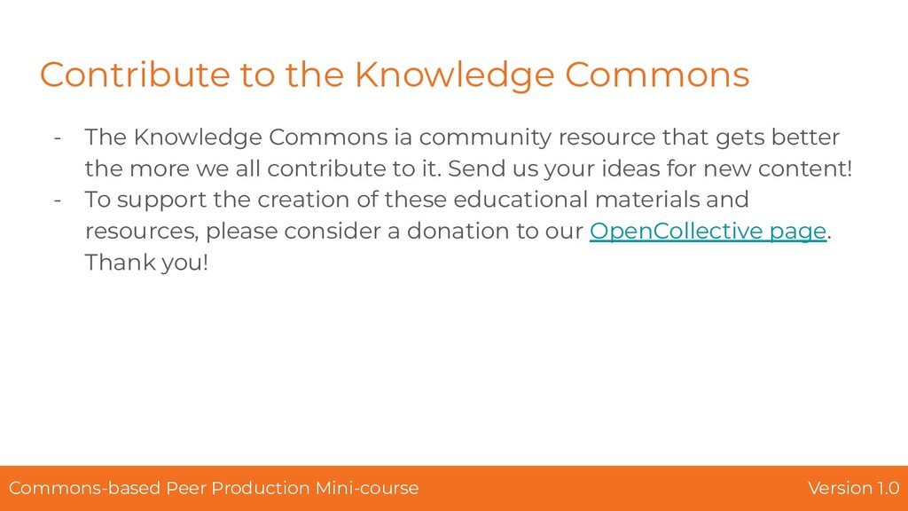 Contribute to the Knowledge Commons - The Knowl...