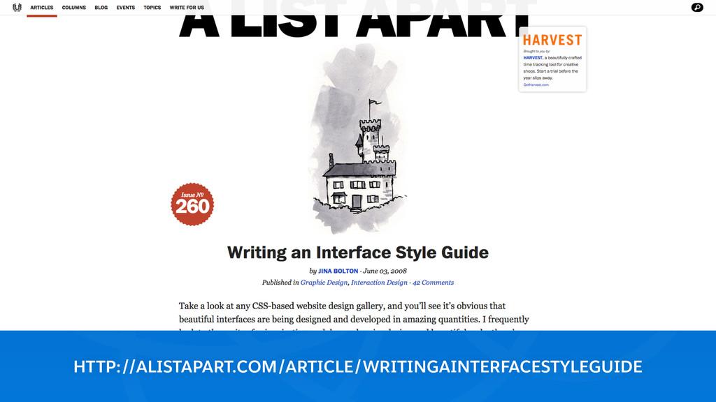 HTTP://ALISTAPART.COM/ARTICLE/WRITINGAINTERFACE...