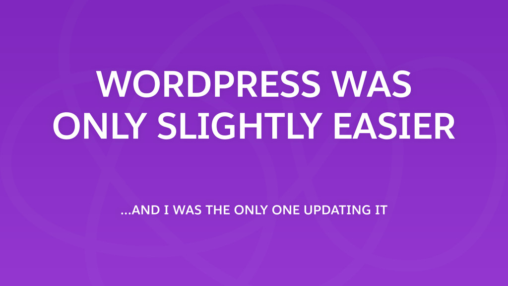 WORDPRESS WAS ONLY SLIGHTLY EASIER …AND I WAS T...
