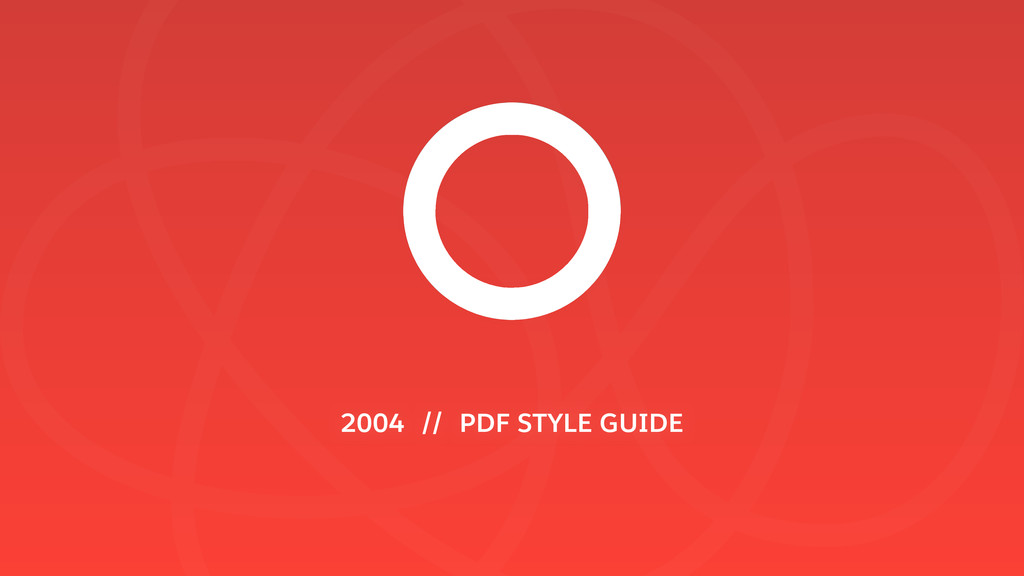 2004 // PDF STYLE GUIDE