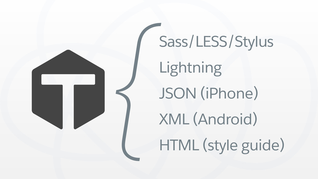 Sass/LESS/Stylus Lightning JSON (iPhone) XML (A...