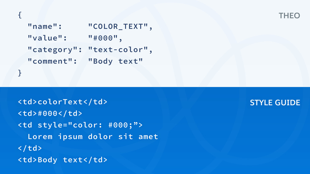 """{ """"name"""": """"COLOR_TEXT"""", """"value"""": """"#000"""", """"categ..."""