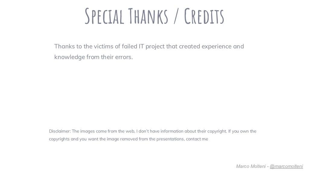 Special Thanks / Credits Disclaimer: The images...
