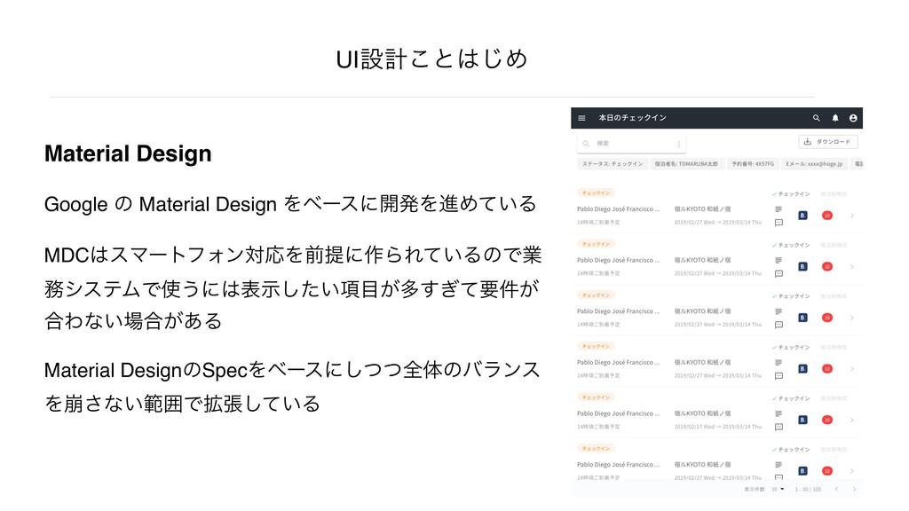 Material Design Google ͷ Material Design Λϕʔεʹ։...