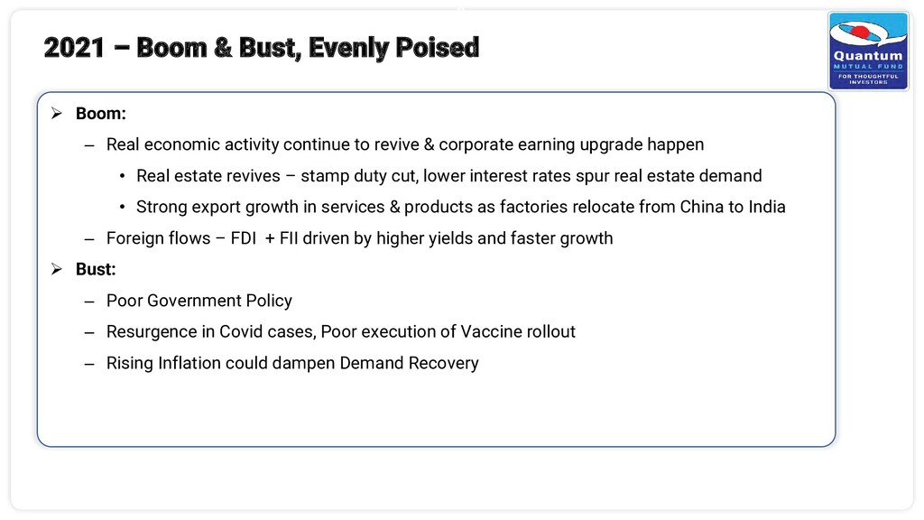 9 ➢ Boom: – Real economic activity continue to ...