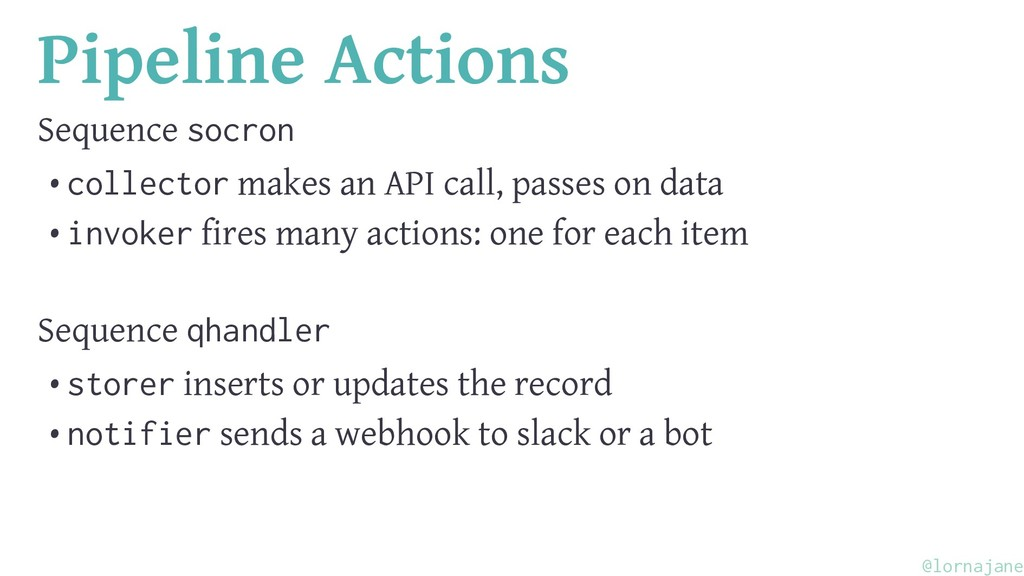 Pipeline Actions Sequence socron • collector ma...