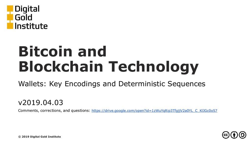 Bitcoin and Blockchain Technology Wallets: Key ...