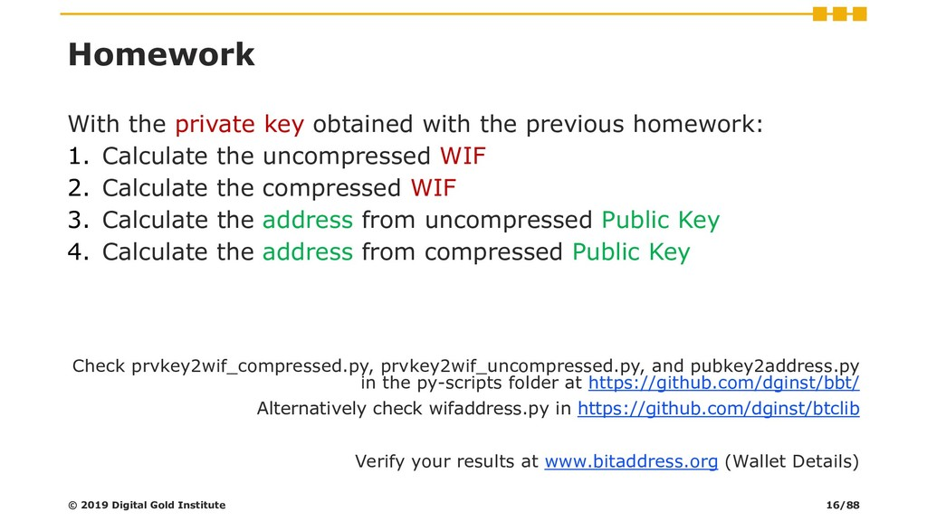Homework With the private key obtained with the...