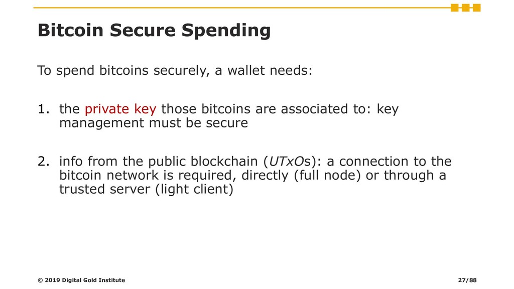 Bitcoin Secure Spending To spend bitcoins secur...