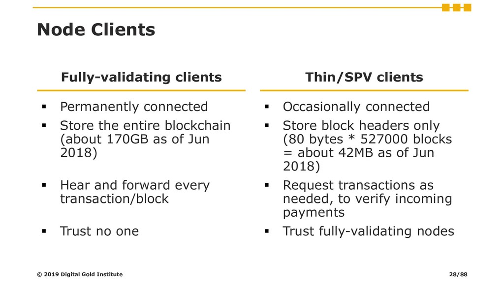 Node Clients Fully-validating clients ▪ Permane...