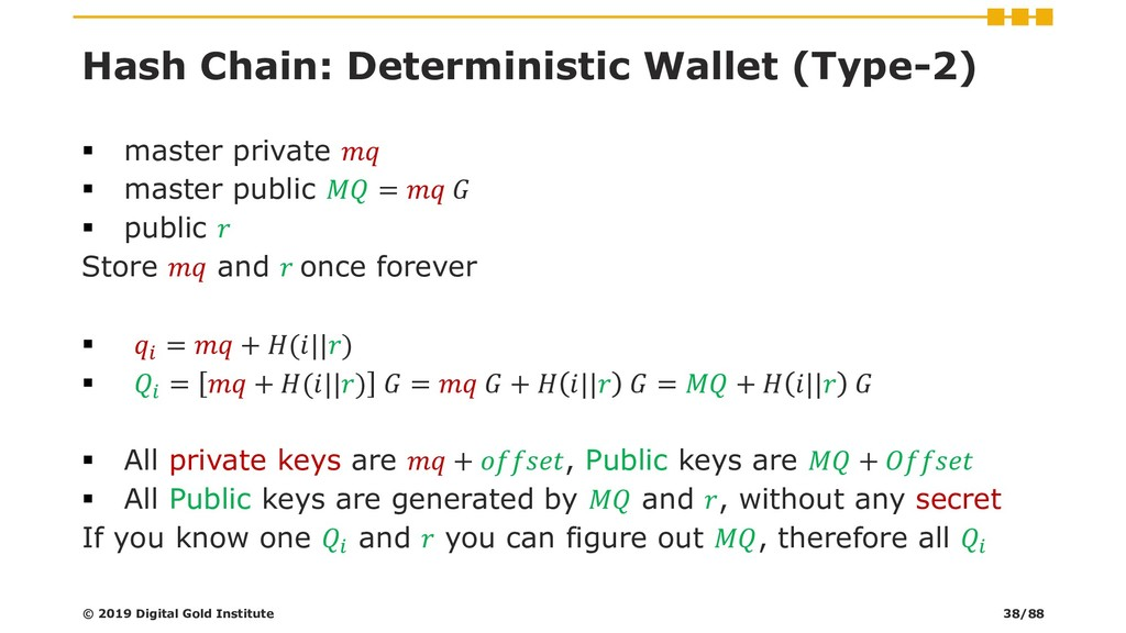 Hash Chain: Deterministic Wallet (Type-2) ▪ mas...