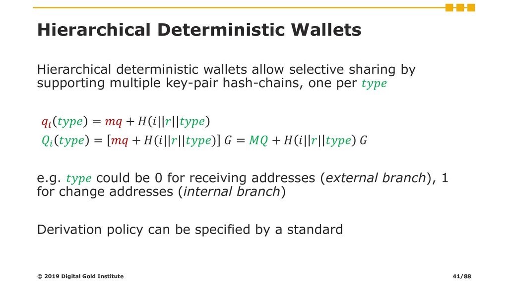 Hierarchical Deterministic Wallets Hierarchical...