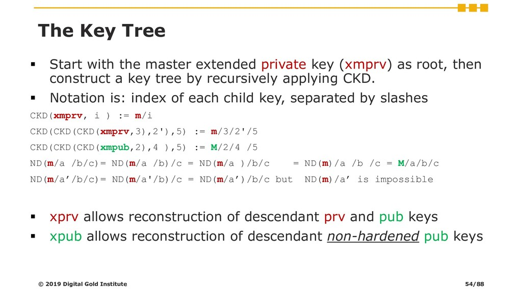 ▪ Start with the master extended private key (x...