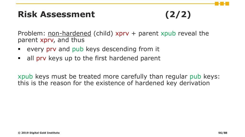 Risk Assessment (2/2) Problem: non-hardened (ch...