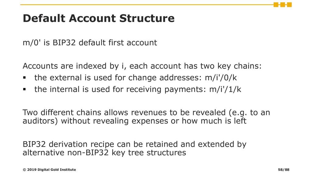 Default Account Structure m/0' is BIP32 default...