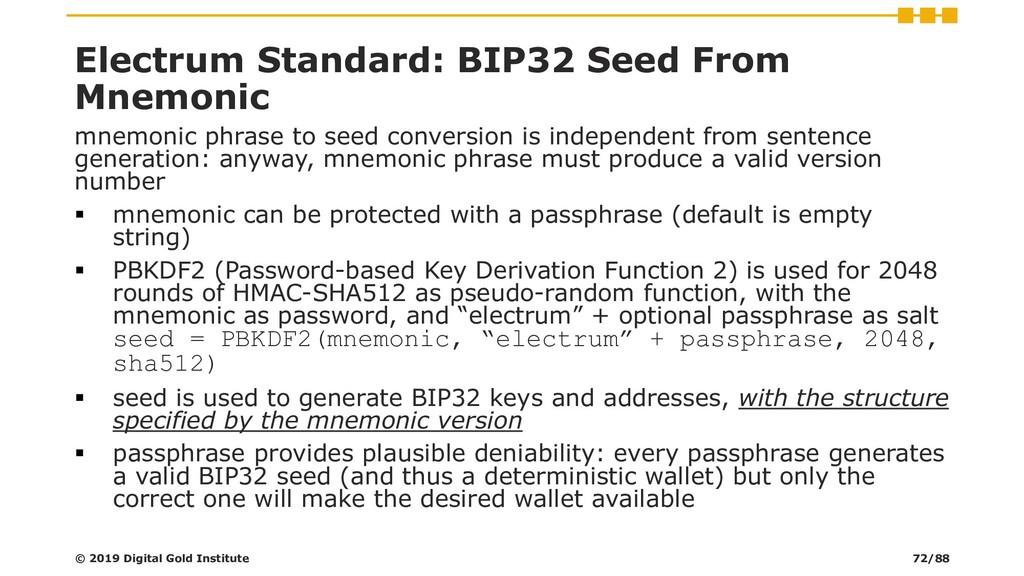 Electrum Standard: BIP32 Seed From Mnemonic mne...