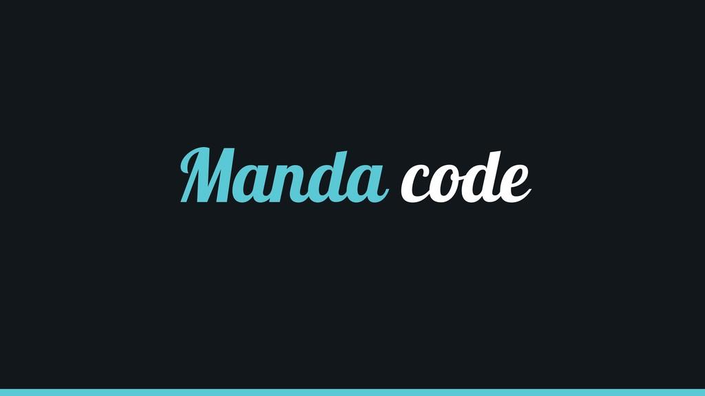 Manda code