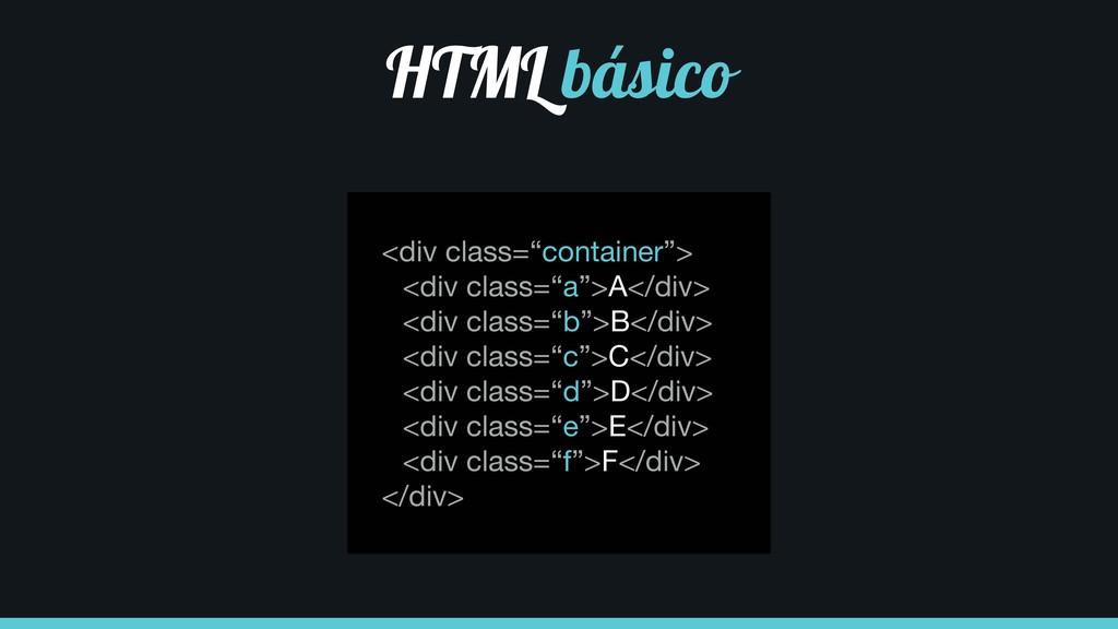 """<div class=""""container"""">  <div class=""""a"""">A</div>..."""