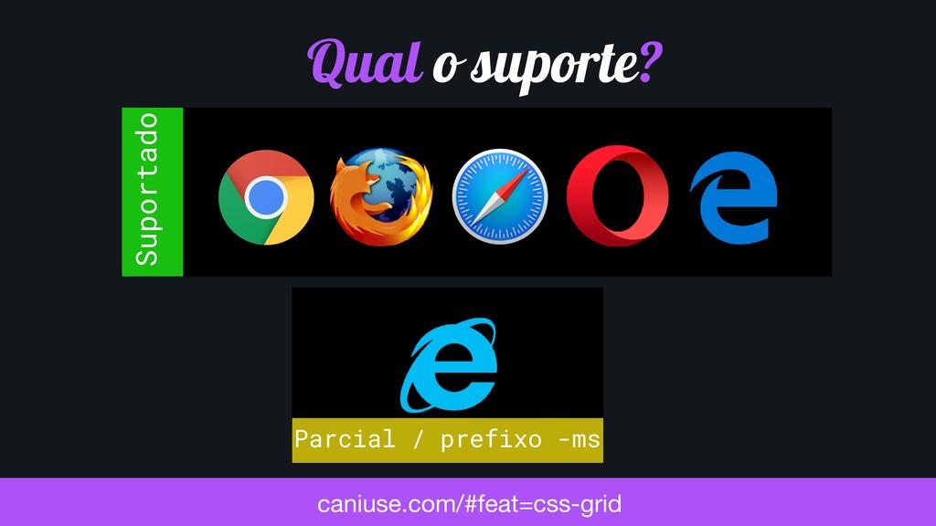 Parcial / prefixo -ms Suportado caniuse.com/#fe...