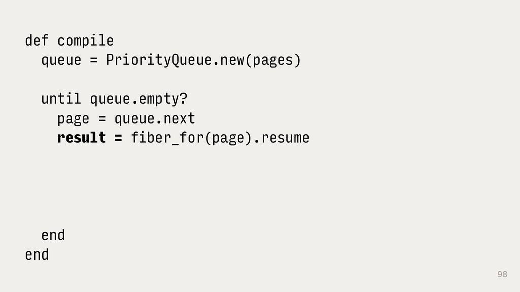 98 def compile queue = PriorityQueue.new(pages)...