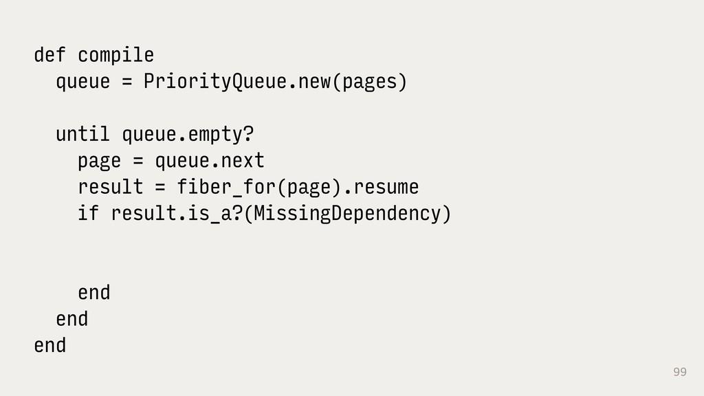 99 def compile queue = PriorityQueue.new(pages)...